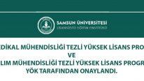 Samsun Üniversitesi Biyomedikal Mühendisliği ve Yazılım Mühendisliği Tezli Yüksek Lisans Programları Açıldı