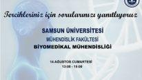 Samsun Üniversitesi Mühendislik Fakültesi Biyomedikal Mühendisliği Bölümü Online Soru Cevap